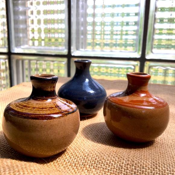 Set of 3! 1970's Vandor Imports mini ceramic vases